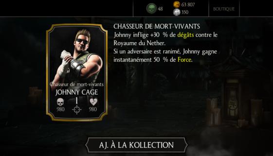 Johnny Cage Chasseur de mort-vivants
