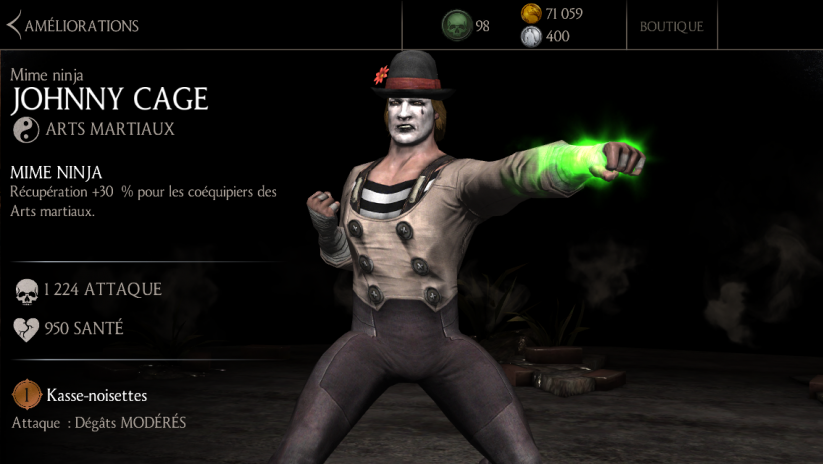 Johnny Cage Mime ninja