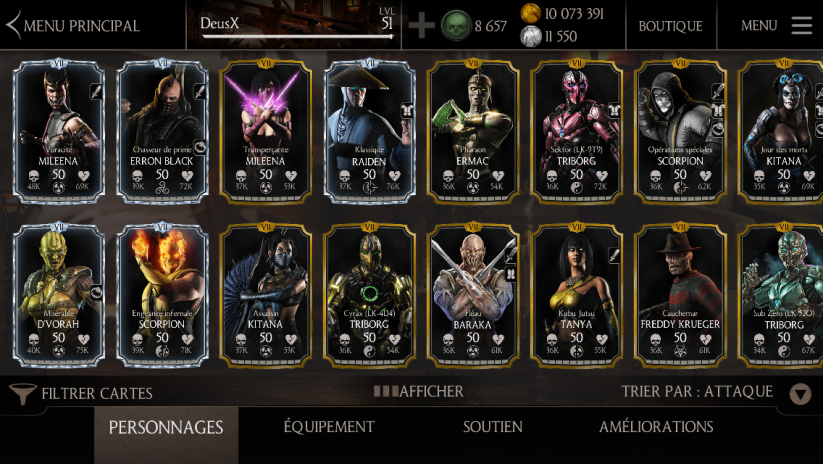 Exemple de kollection Mortal Kombat X full