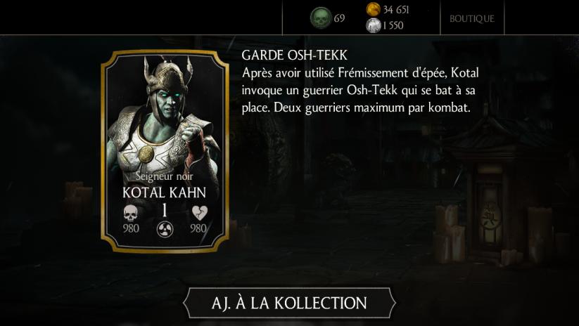 Kotal Kahn Seigneur noir