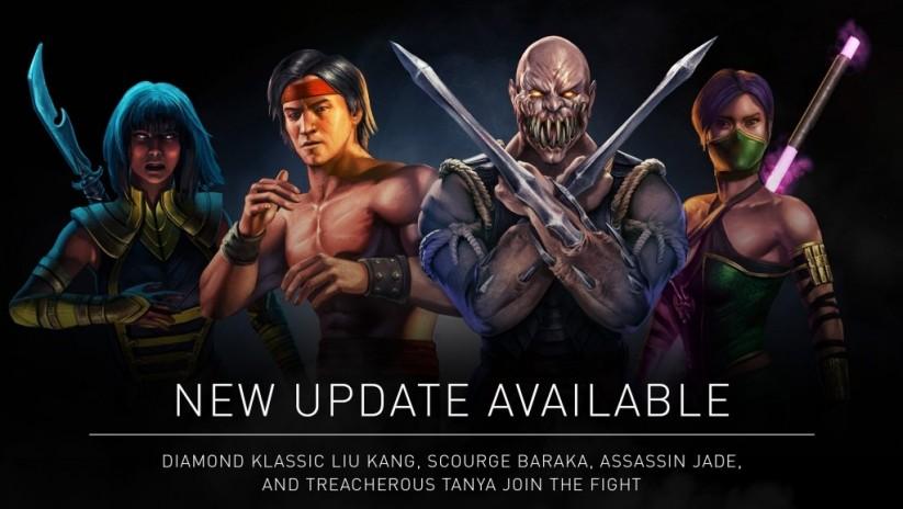 Mise à jour 1.13 : Baraka Fléau, Jade Assassin, Tanya Traîtresse et Liu Kang Diamant pour les 2 ans de MKX