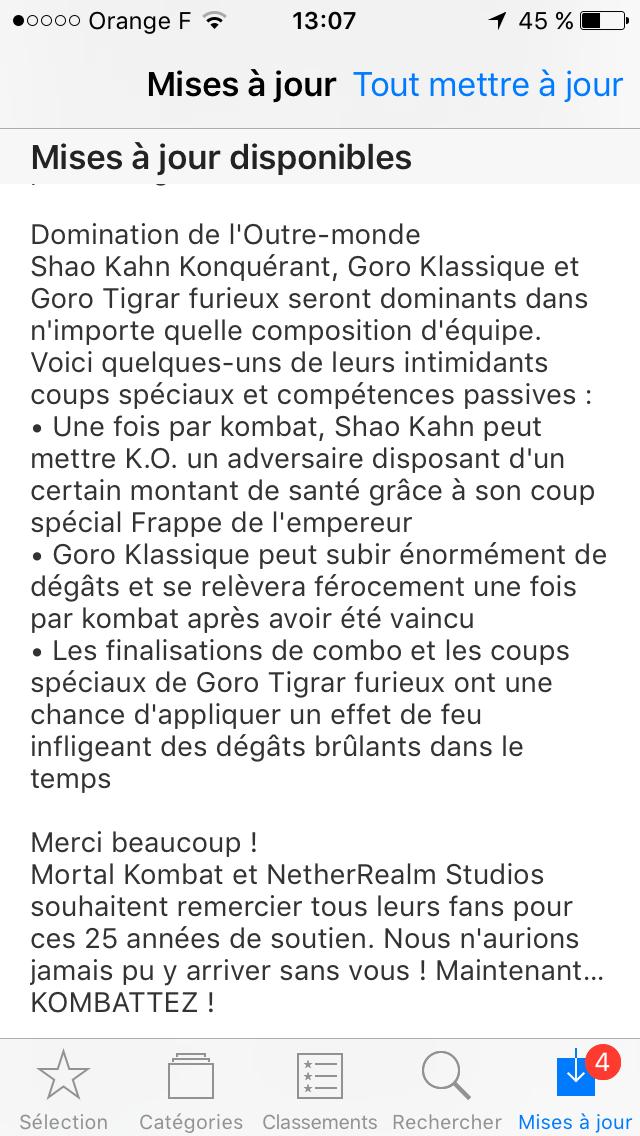 Mise à jour 1.15.0 : Gogo arrive avec 2 avatars, accompagné de Shao Kahn Konquérant