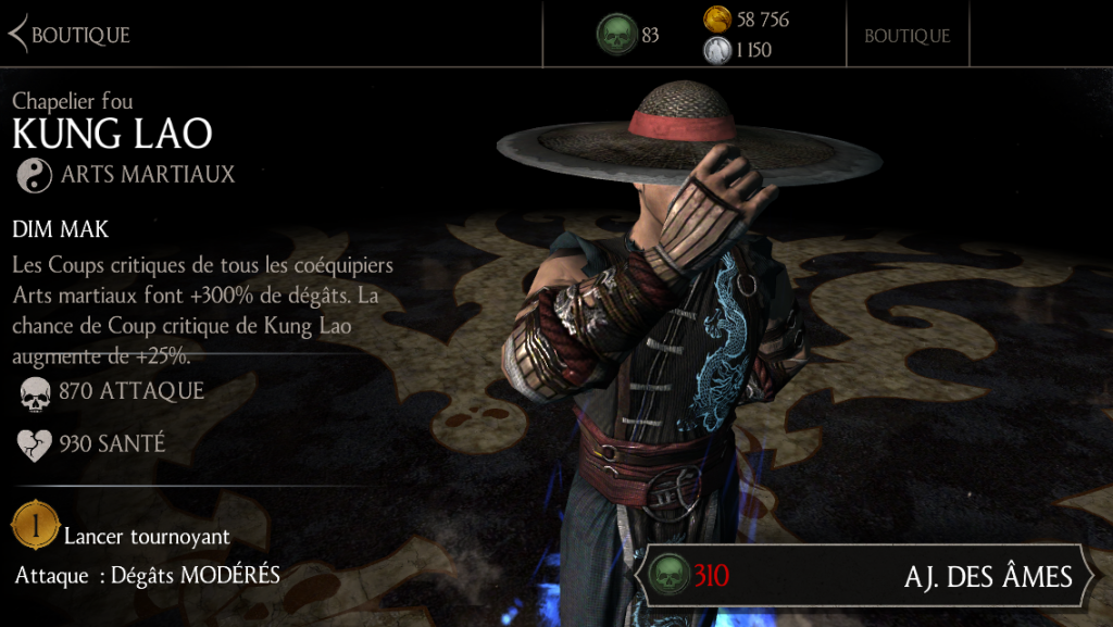 Kung Lao Chapelier fou