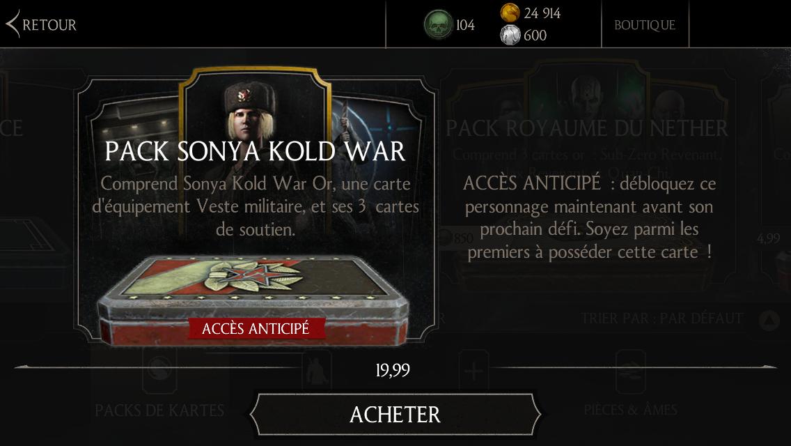 Pack Sonya Kold war