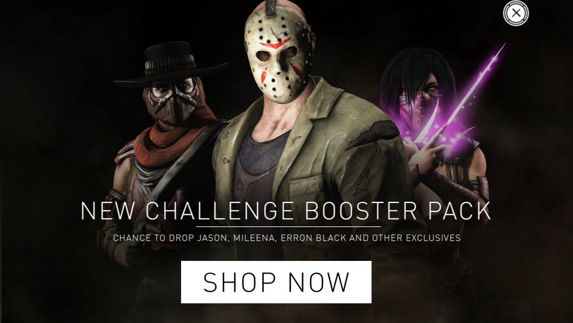 New challenge booster pack : chance to drop Jason, Mileena, Erron Black and other exclusives