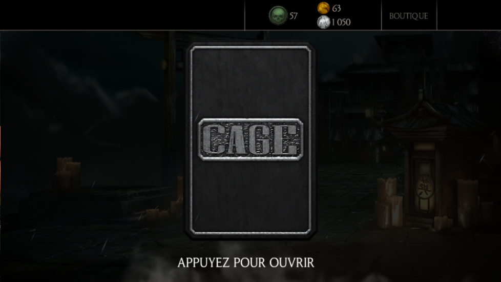 MAJ 1.7.0 : pack Famille Cage
