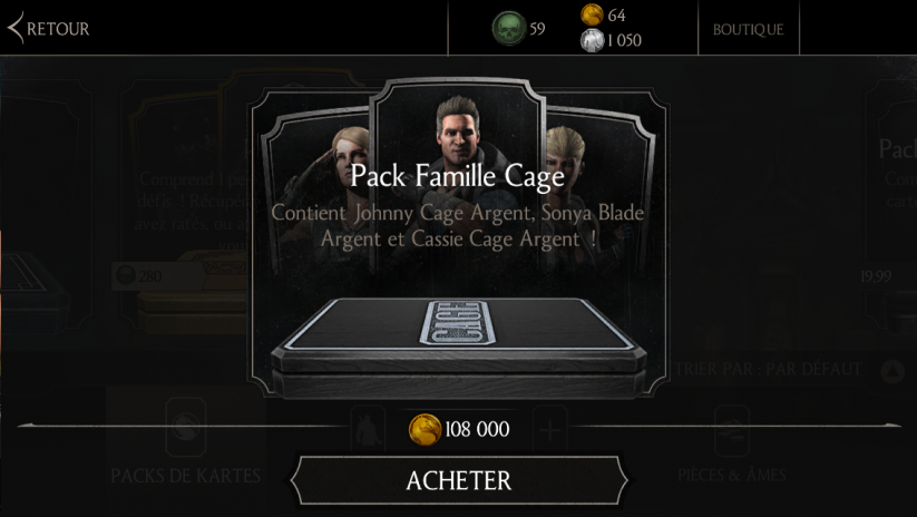 Pack Famille Cage : 108K pièces