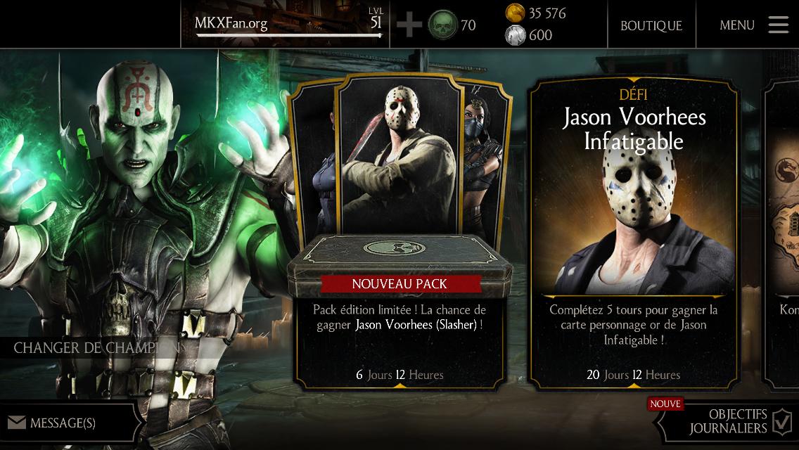 MAJ 1.8 : retour du pack Jason Slasher