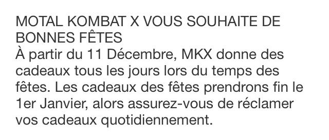 Mortal Kombat X vous souhaite de fonnes fêtes