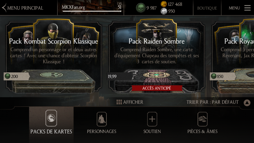 Pack Kombat Scorpion Klassique : Boutique