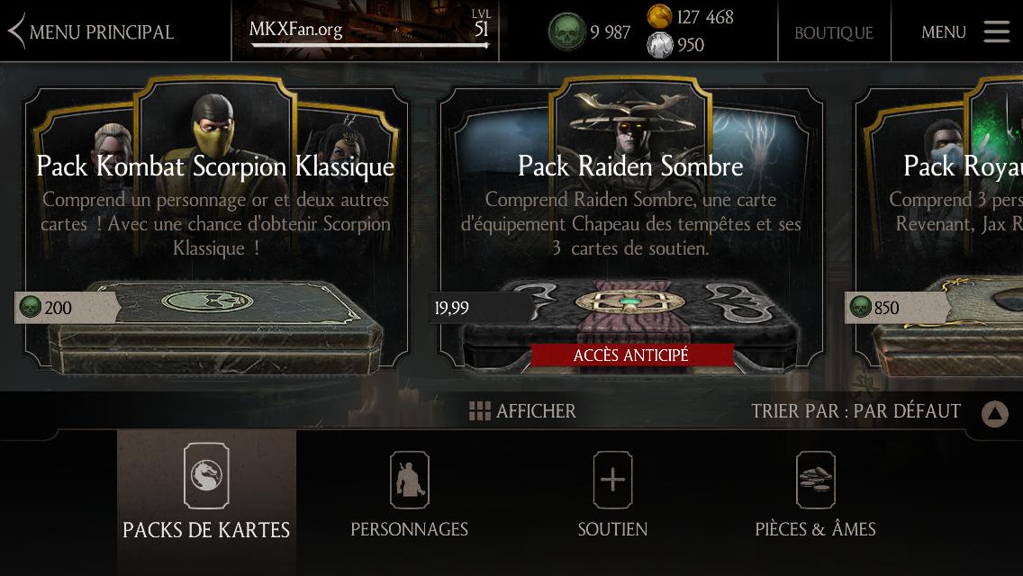 Pack Kombat Scorpion Klassique : Boutique