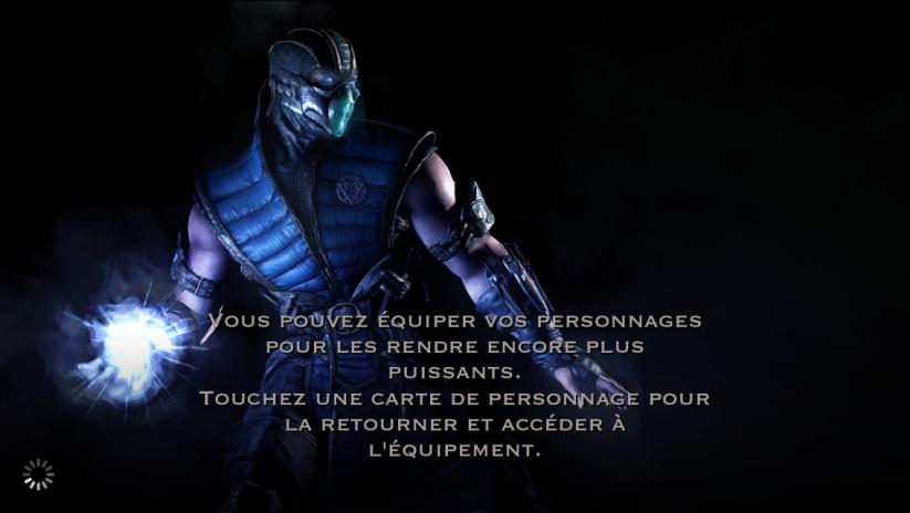 Personnage et équipement : Sub-Zero