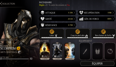 Scorpion Injustice : personnage or exclusif V2