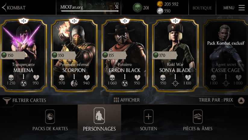 Prix du personnage or Erron Black Pistolero