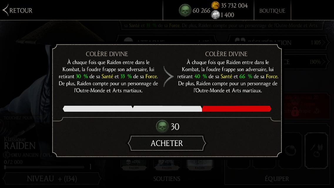 Raiden Klassique : compétence niveau 2