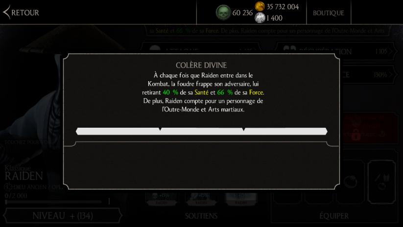 Raiden Klassique : compétence niveau 3