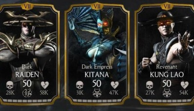 Raiden Sombre, Kitana Sombre impératrice et Kung Lao Revenant