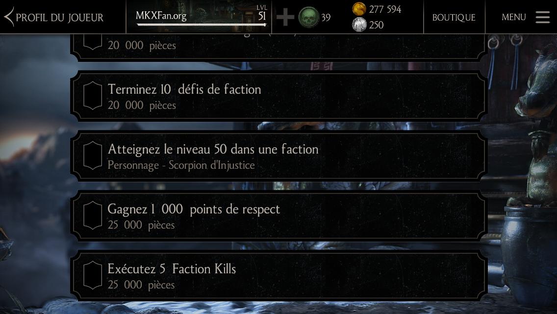 Récompense console : Scorpion Injustice