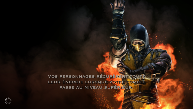 Récupération d'énergie et niveau du compte : Scorpion