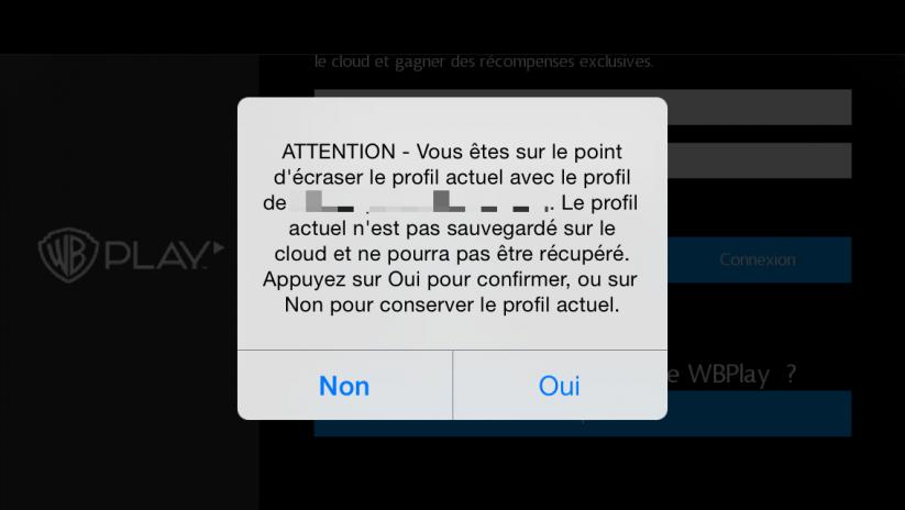 Sauvegarde WBPlay : restaurer une sauvegarde Cloud