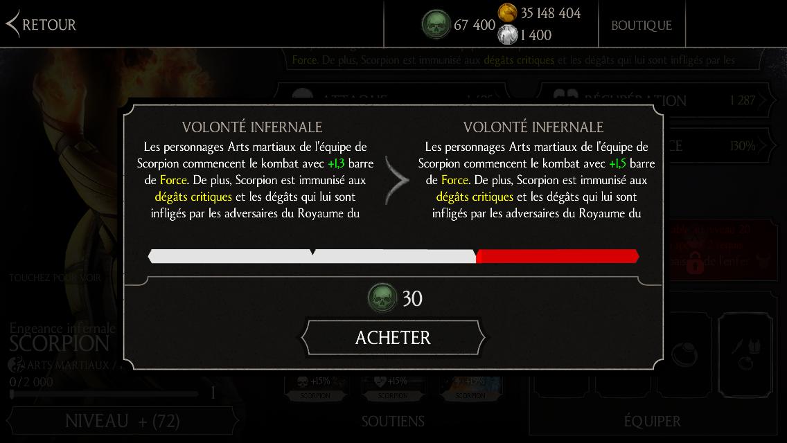 Scorpion Engeance infernale : compétence niveau 2