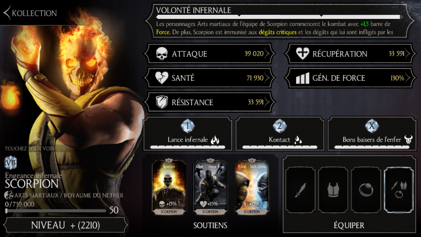 Scorpion Engeance infernale : niveau 50 fusion 7
