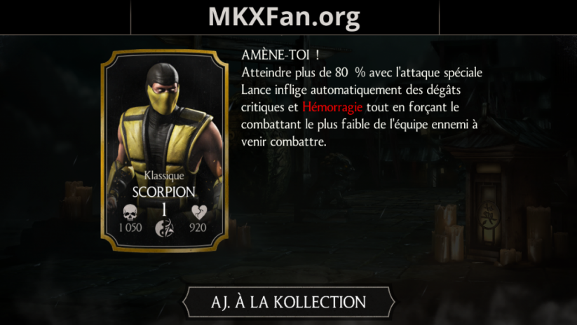 Scorpion Klassique
