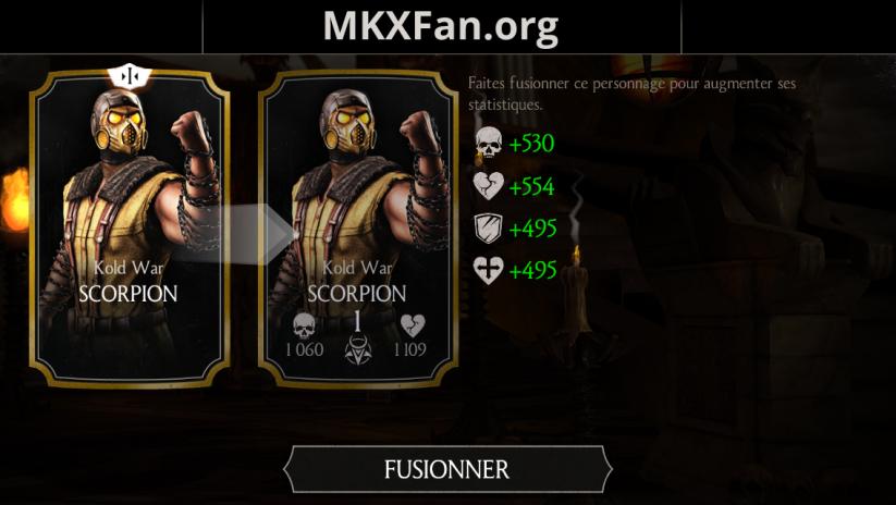 Défi Scorpion Kold war : fusion 1