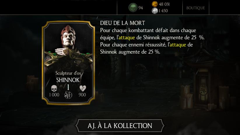 Shinnok Sculpteur d'os