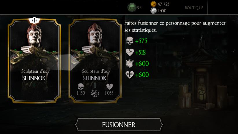 Shinnok Sculpteur d'os fusion 1