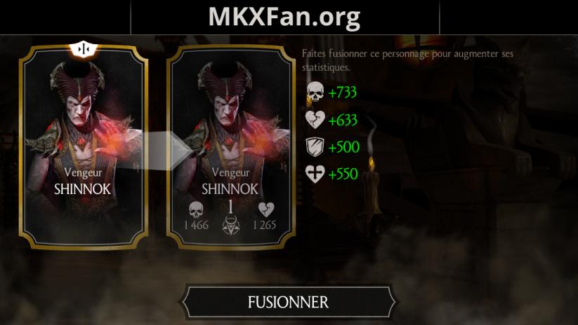 Shinnok Vengeur fusion 1
