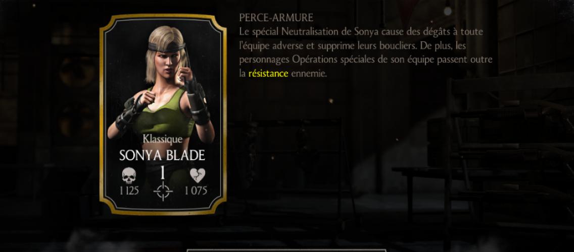 Sonya Blade Klassique