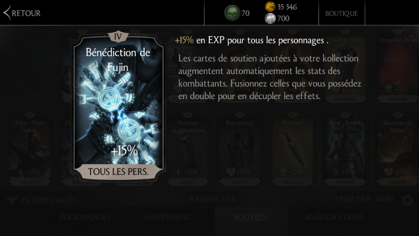 Bénédiction de Fujin : Fusion maximum