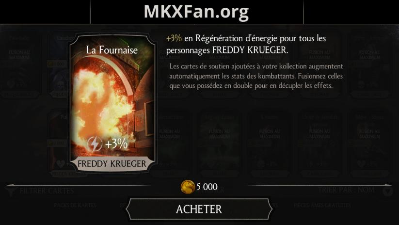 Soutien de Freddy Krueger en régénération d'énergie : la Fournaise