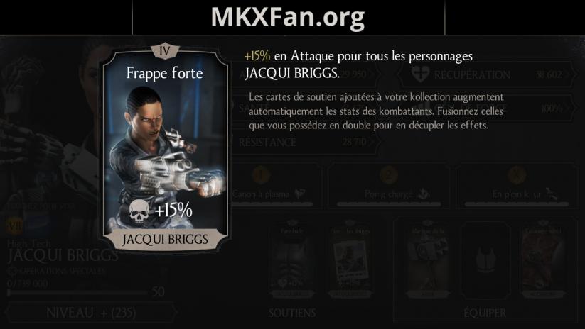 Soutien de Jacqui Briggs en attaque : frappe forte