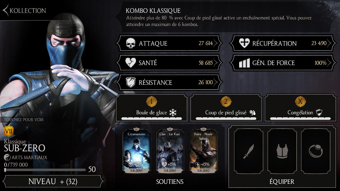 Sub-Zero Klassique niveau 50 fusion 7