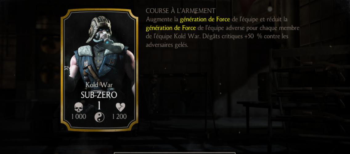 Sub-Zero Kold war