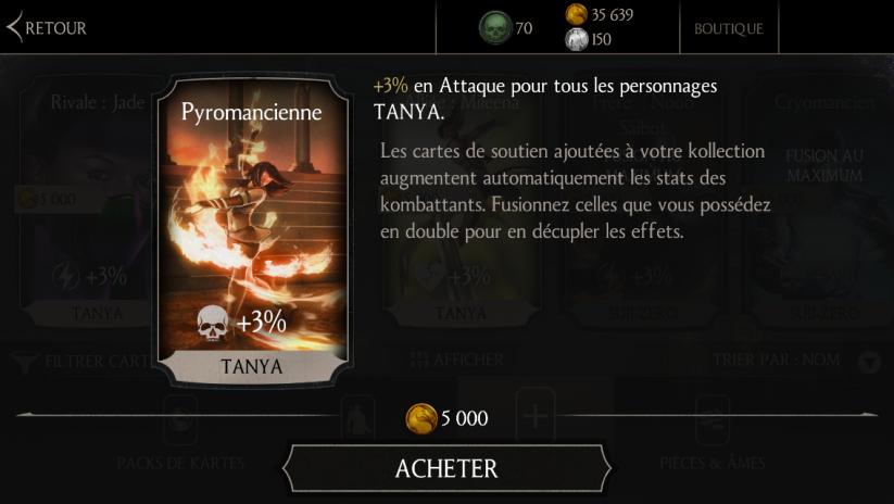 Soutien de Tanya Kobu justu en Attaque : Pyromancienne