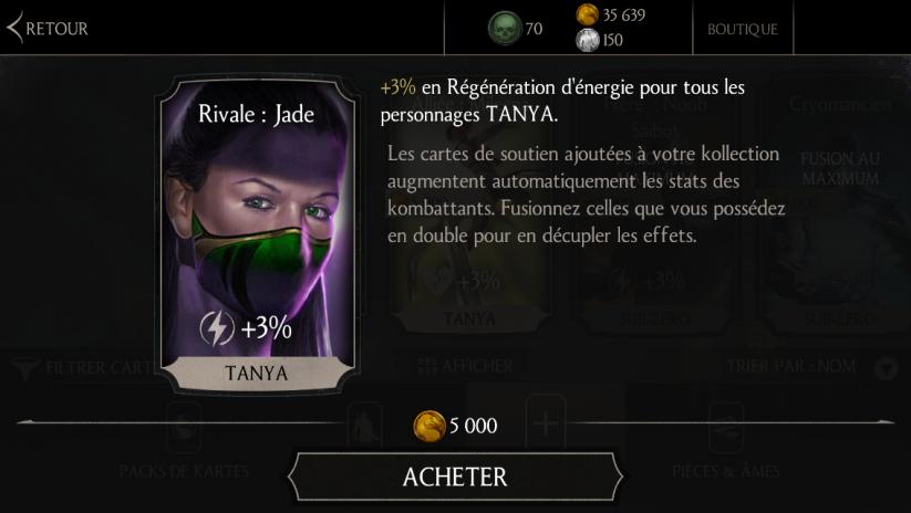 Soutien de Tanya Kobu justu en Régénération d'énergie : Rivale : Jade