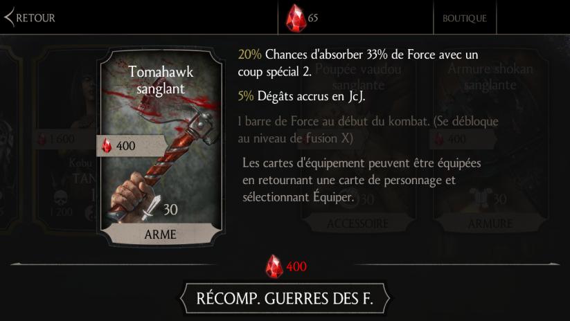 Tomahawk sanglant
